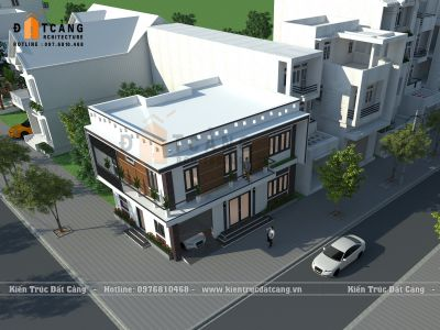 Thiết kế biệt thự mini 2 tầng hiện đại tại Quảng Ninh - DCBTD-0002