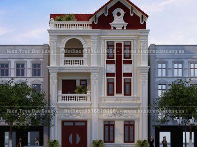 Thiết kế biệt thự Pháp 3 tầng mái ngói đỏ sang trọng tại Quảng Ninh-DCBTP-003