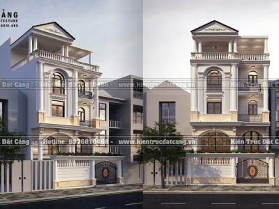 Thiết kế biệt thự tân cổ điển 5 tầng tại Hải Dương - DCBTP-0004