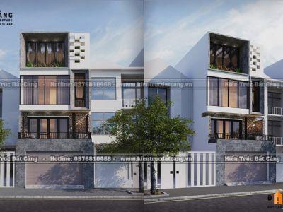 Tham khảo mẫu thiết kế nhà lô 4 tầng cửa kính hiện đại