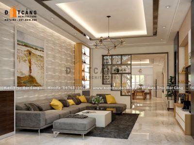 Thiết kế nội thất căn hộ liền kề phong cách hiện đại đẹp tại Hà Nội