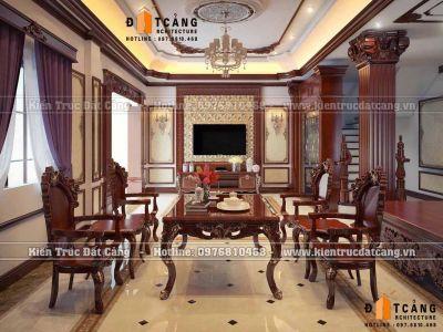 Thiết kế nội thất nhà phố phong cách tân cổ điển sang trọng tại Hải Phòng