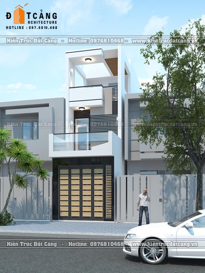 Mẫu thiết kế nhà lô phố phong cách hiện đại.