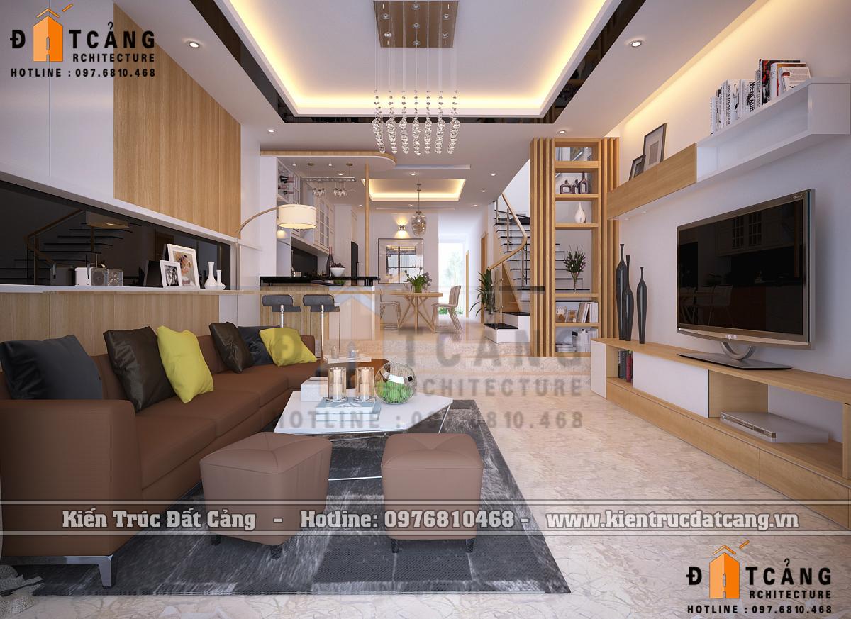 Thiết kế nội thất nhà ống hiện đại đẹp và tiện nghi tại Hải Phòng