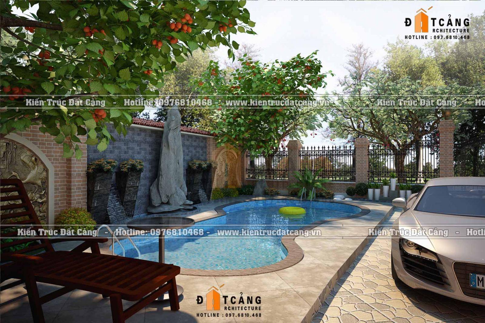 Thiết kế tiểu cảnh sân vườn Biệt Thự tại Quảng Ninh