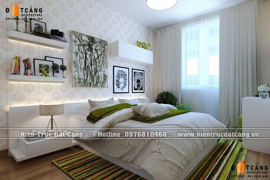 Mẫu thiết kế nội thất phòng ngủ phong cách hiện đại đẹp tiện nghi của Kiến trúc Đất Cảng.